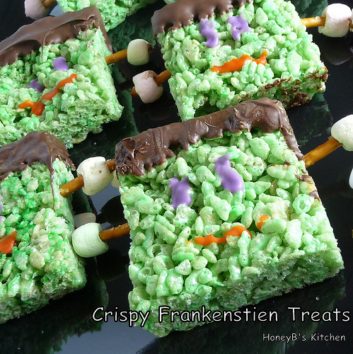 Krispy Frankenstein Treats