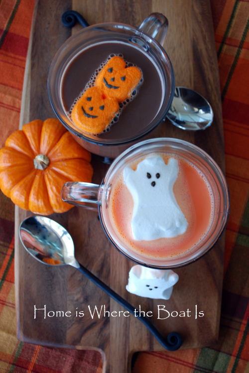 halloween peeps hot chocolate