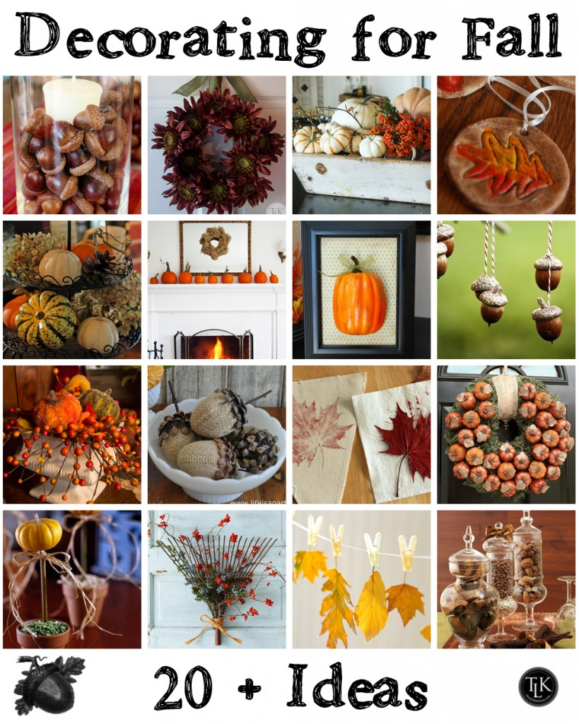 20 Plus Ideas for Decorating for Fall