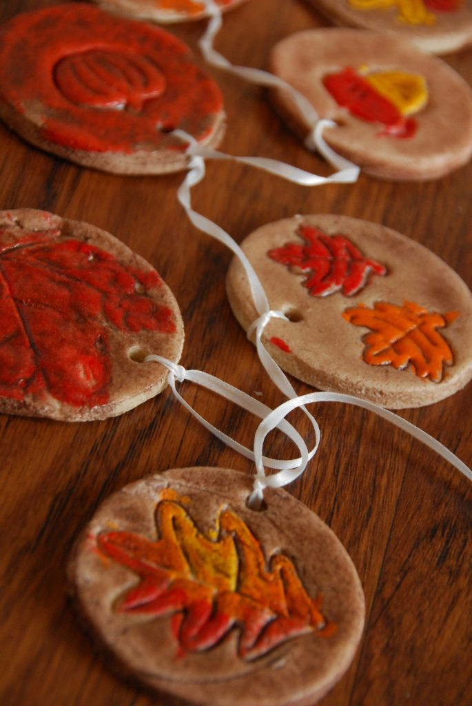 Fall Salt Dough Ornaments