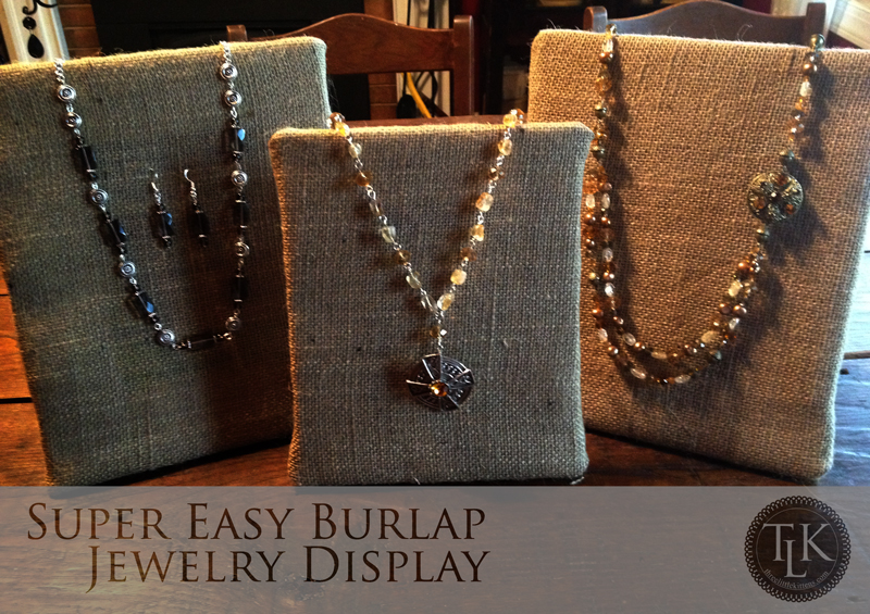Super easy burlap jewelry displays for under 20 bucks for Jewelry displays