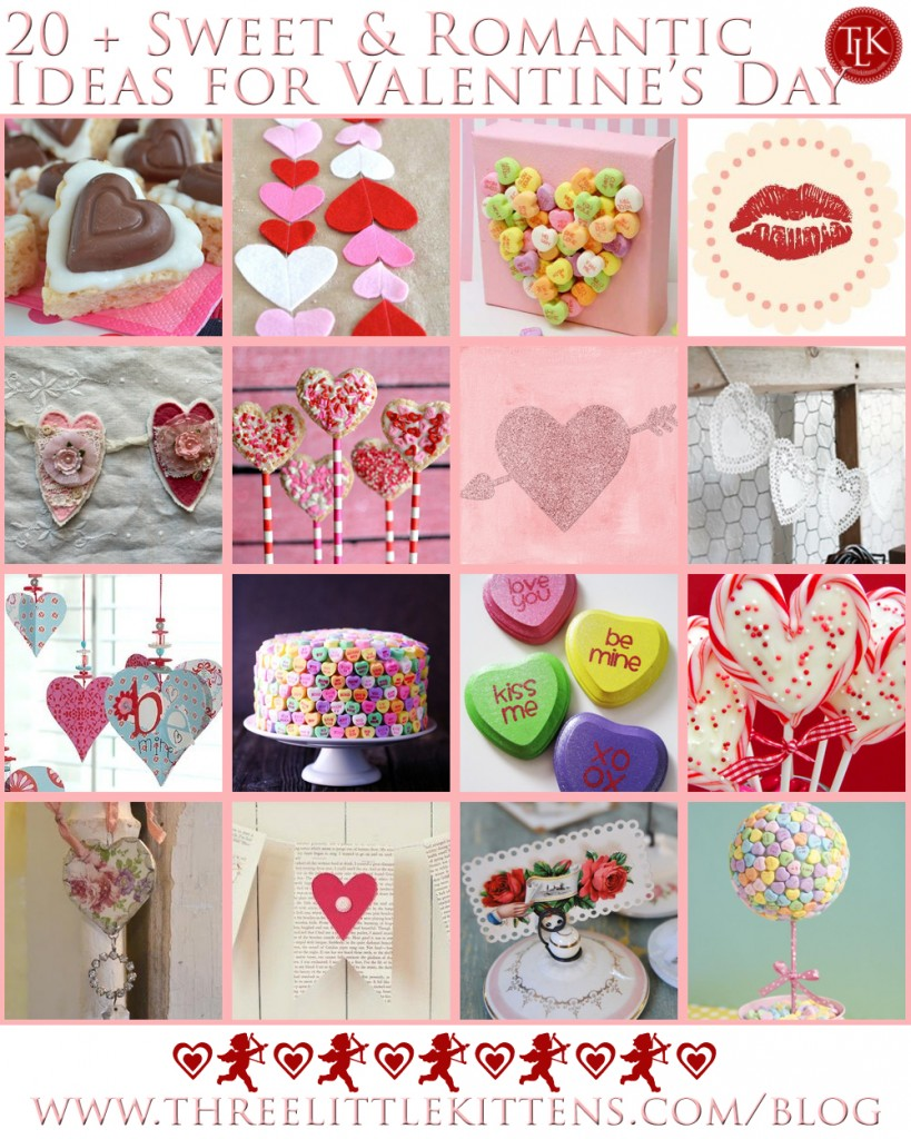 20 + Sweet & Romantic Ideas for Valentine's Day on threelittlekittens.com/blog