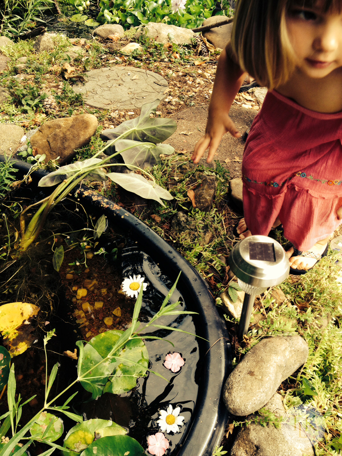 Caroline-Adding-Flowers-to-the-Pond