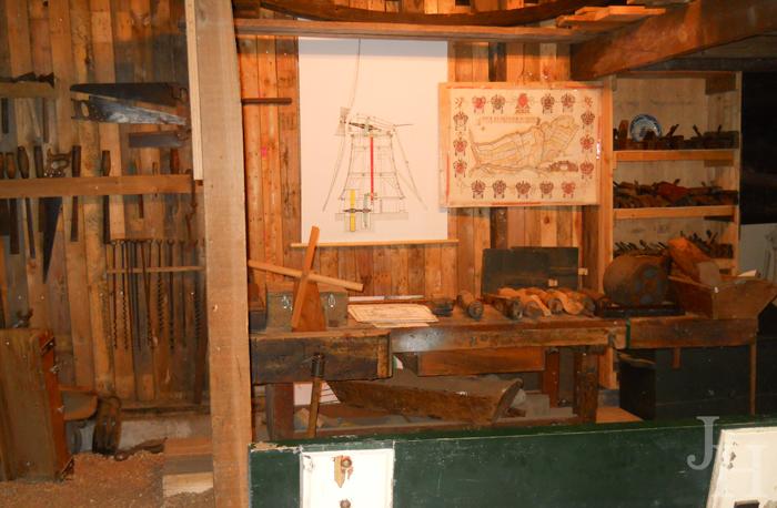 Interior of workshop at Kinderdijk