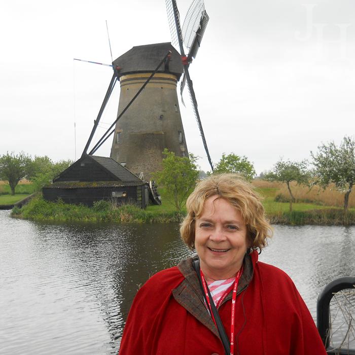 June at Kinderdijk
