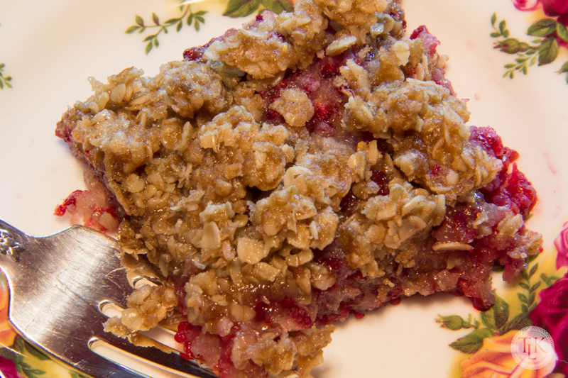 Super Easy Raspberry Crisp Recipe on threelittlekittens.com/blog