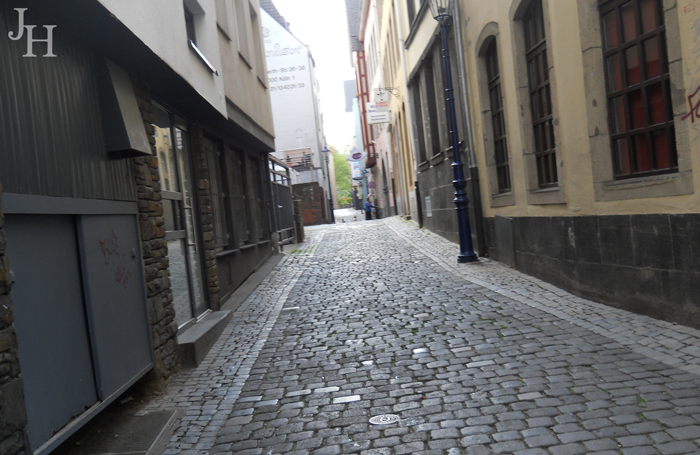 Narrow Cobblestone Streets in Altstadt, Cologne