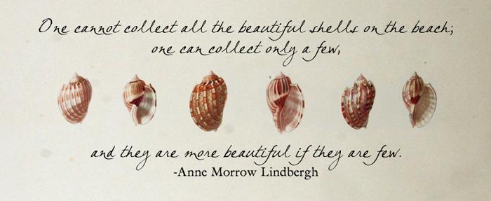 Anne Morrow Lindbergh Quote on threelittlekittens.com/blog