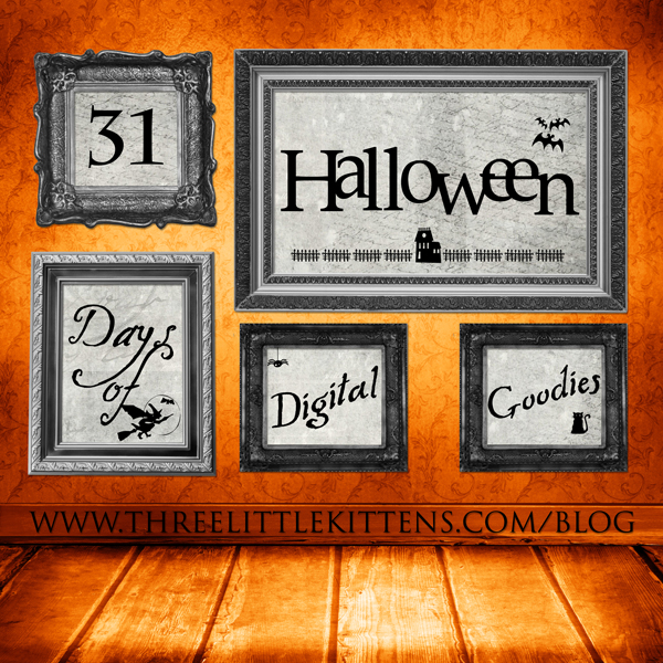 31 Days of Halloween Digital Goodies - Free Printables on www.threelittlekittens.com/blog