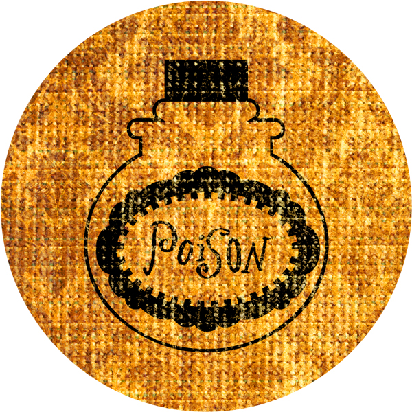 Best-Witches-Vintage-Fabric-Stickers-Poison