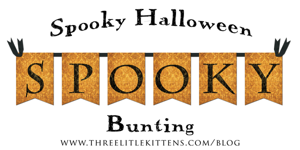 Spooky Halloween Bunting Digital Goodie - Free Printables on threelittlekittens.com/blog
