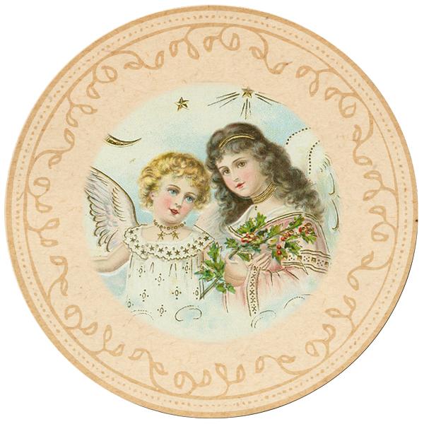 25 Days of Christmas Angel Tags – Day 10 on threelittlekittens.com/blog