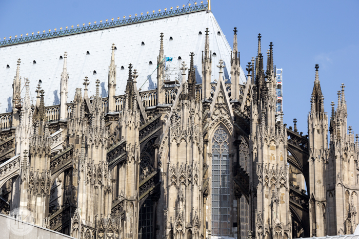 Gothic details on the Cathedral in Cologne