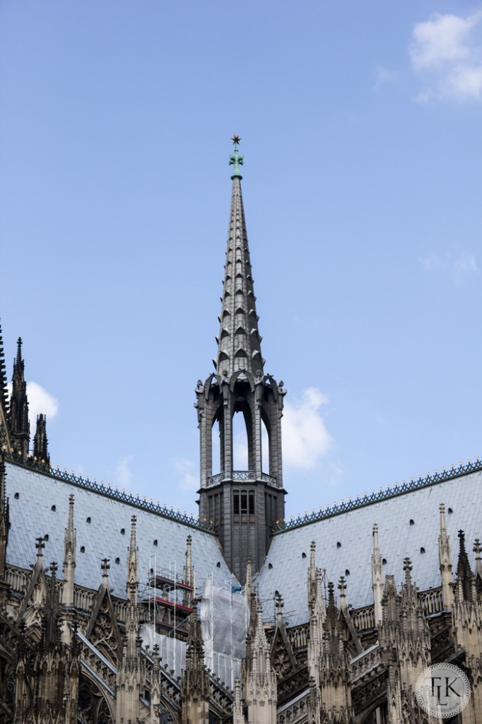 Roofline and spire of the Cologne Cathedral