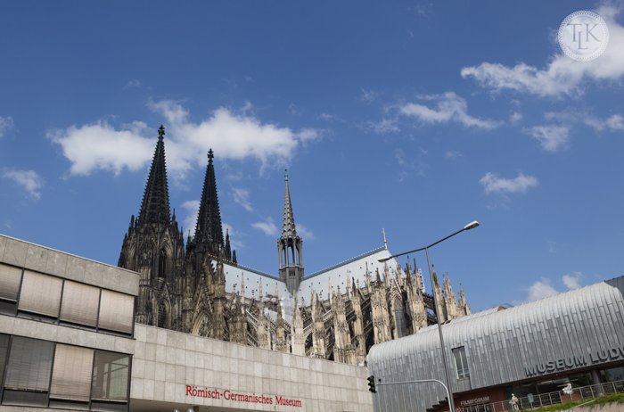 The cathedral of Cologne and the Roman-Germanic Museum