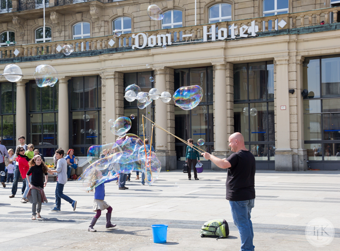 Bubble Magic on the Square in Cologne, Germany