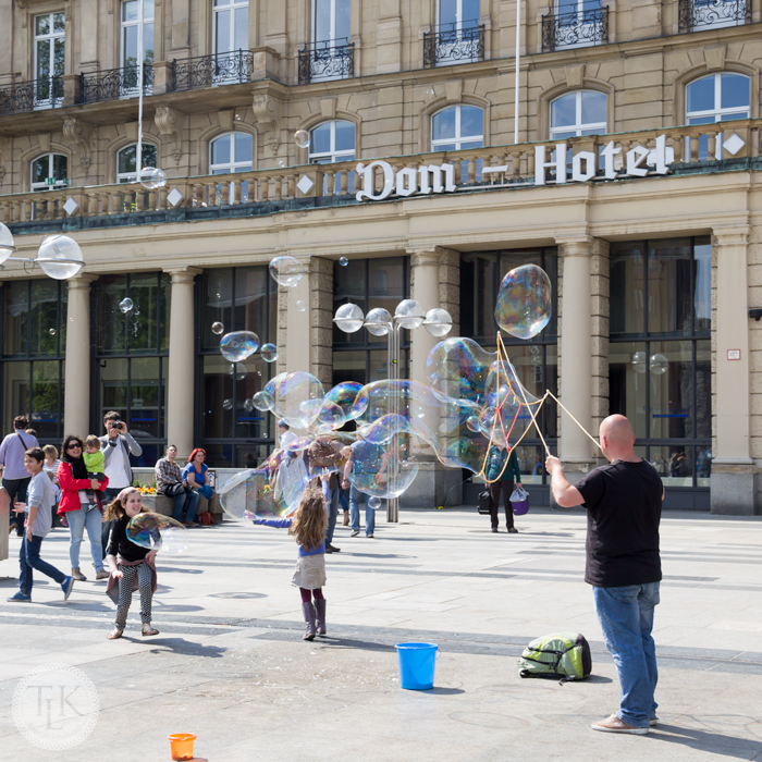 Bubbles in Cologne, Germany