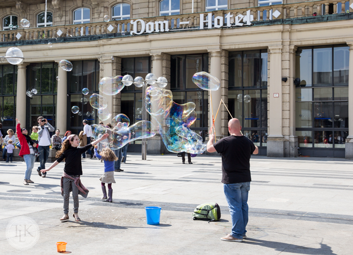 Bubble Magic in Cologne, Germany