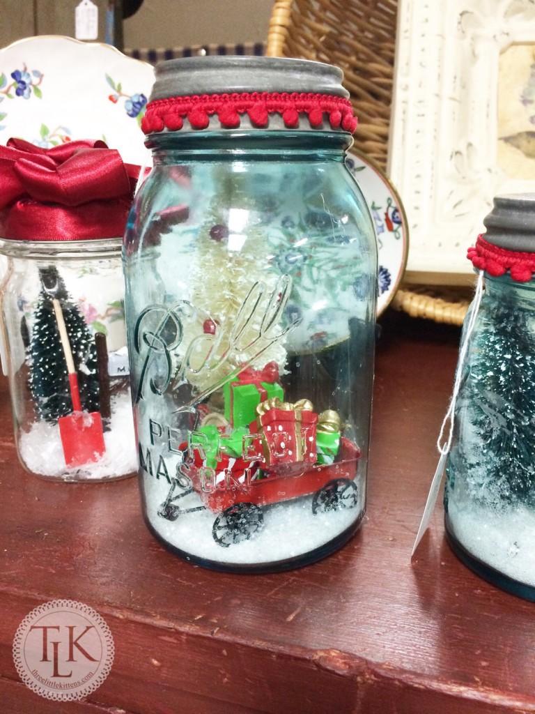 Ball Jar Holiday Display