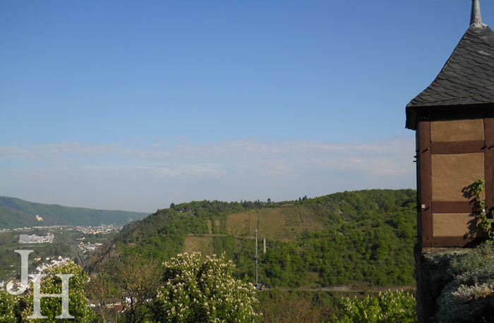 The view from the Gate Keeper's House at Marksburg Castle