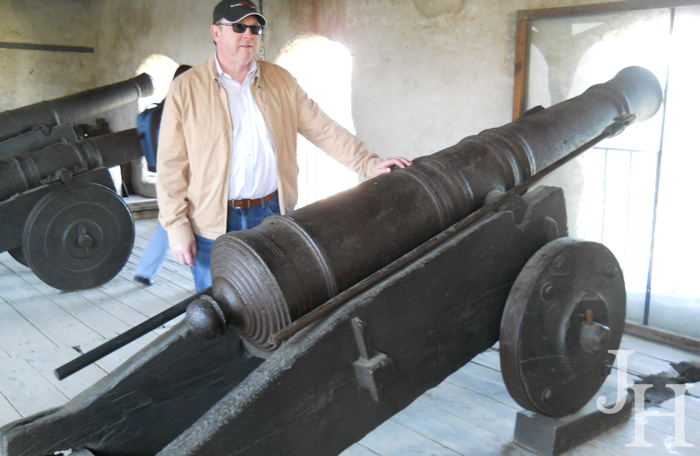 Large canons in the Great Battery at Marksburg Castle