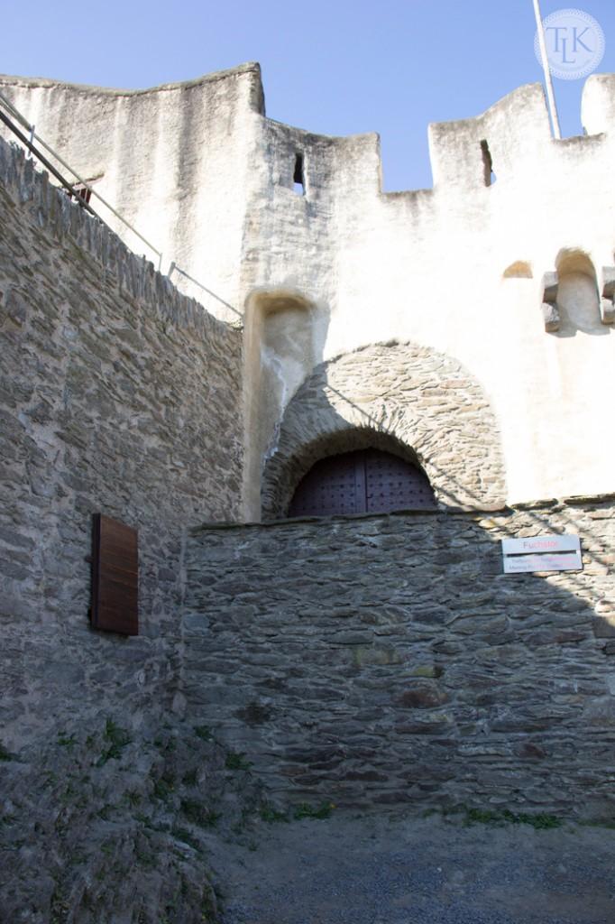 Fox Gate at Marksburg Castle in Germany