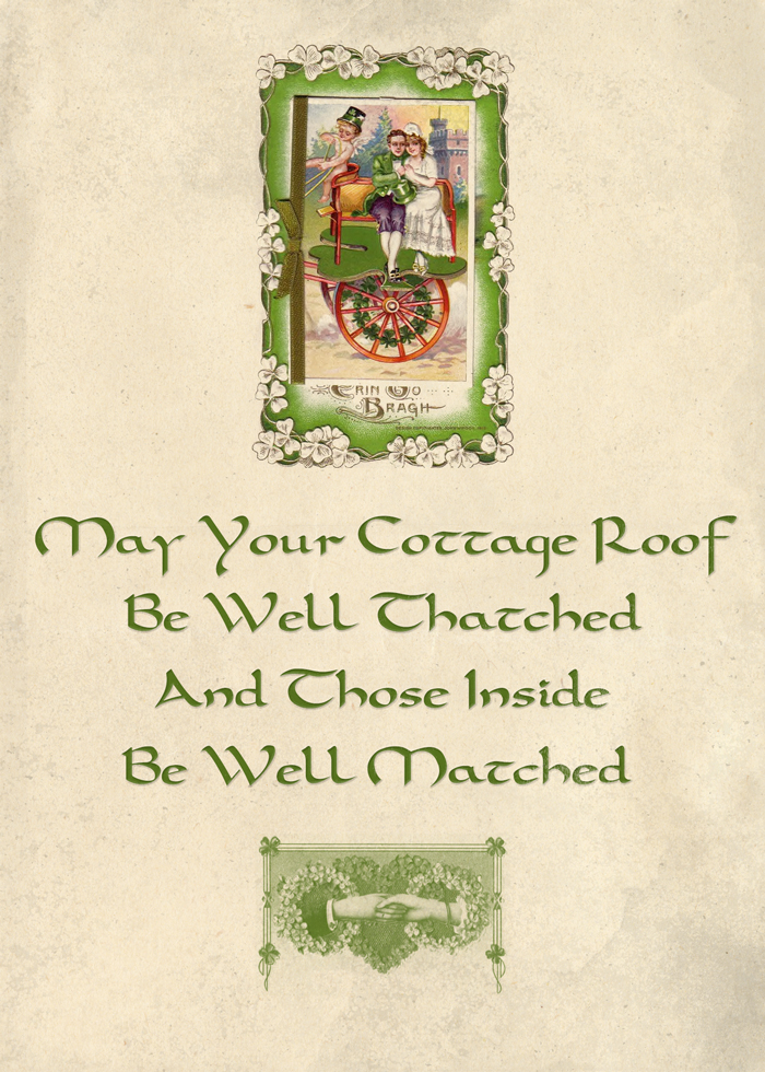 Irish Blessing on threelittlekitens.com/blog - Free Printable - Digital Goodie for St. Patrick's Day