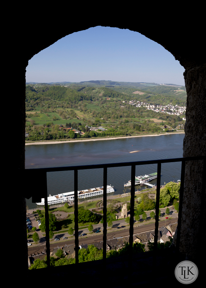 View of the Viking Ingvi on the Rhine River in Braubach, Germany