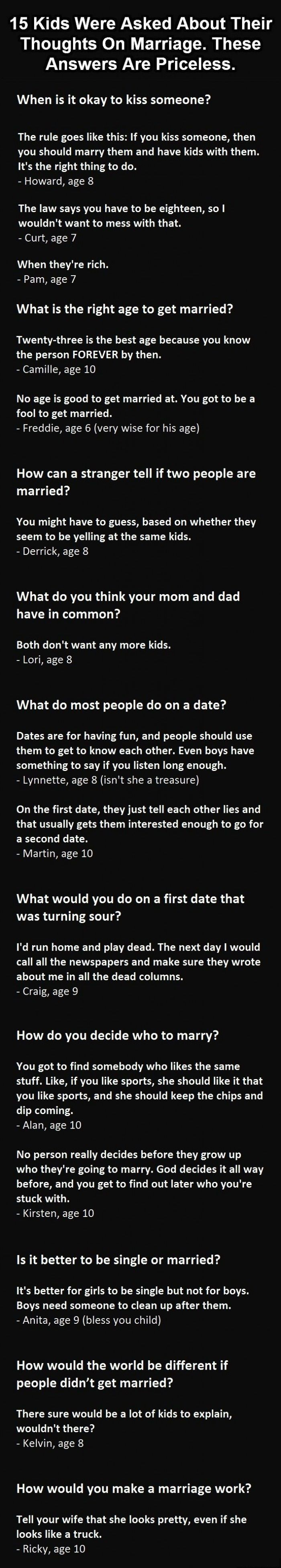 Humor Me Kids on Marriage