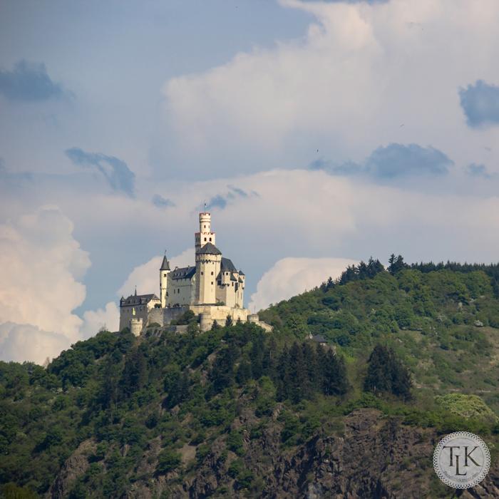 Marksburg Castle viewed while cruising down the Rhine