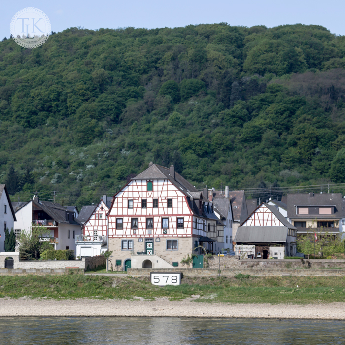 Village of Spay on the Rhine in Germany