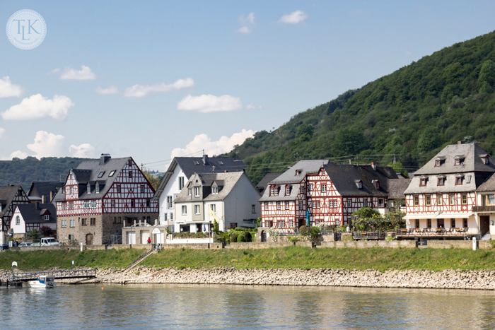 The Village of Spay on the Rhine River in Germany