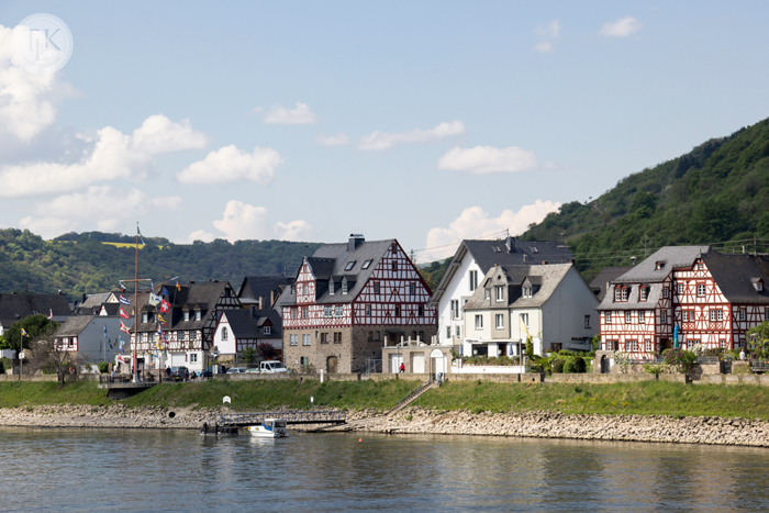 Village of Spay, on the banks of the Rhine in Germany