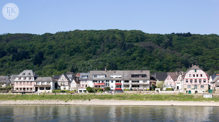 Vacation homes and half-timber houses in the Village of Spay, Germany