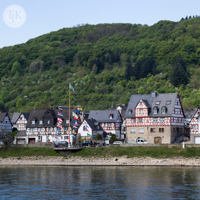 The Village of Spay Germany on the banks of the Rhine