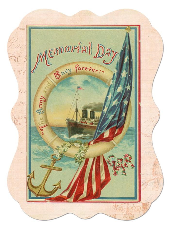 Memorial Day Sticker - Free Digital Goodie - Printable - on threelittlekittens.com/blog