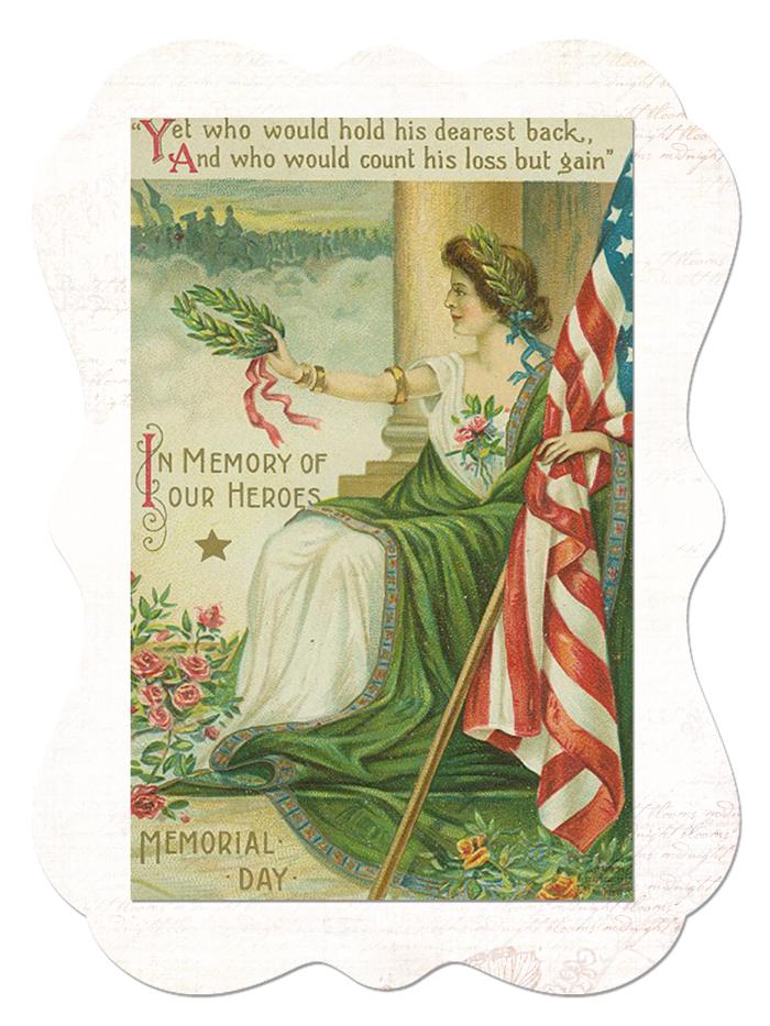 Memorial Day Sticker - Free Digital Goodie - Free Printable on threelittlekittens.com/blog