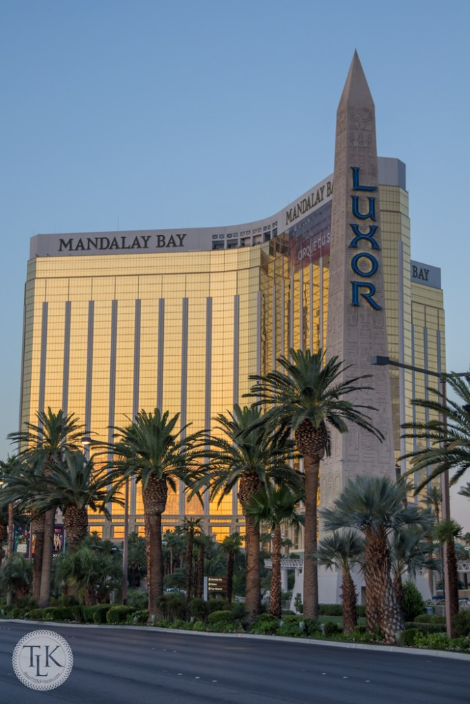Mandalay Bay as the sun rises in Vegas