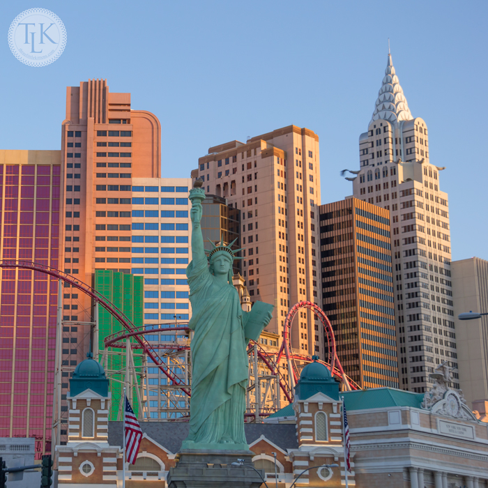 Manhatten skyline of New York, New York in Las Vegas