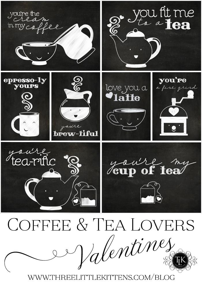Coffee-and-Tea-Lovers-Valentines on threelittlekittens.com/blog