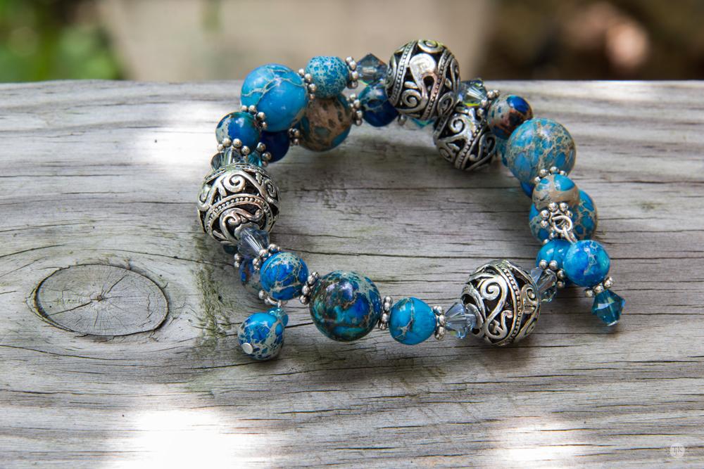 THREE LITTLE KITTENS BLOG | Slice of Heaven Memory Wire Bracelet - Original Handmade Jewelry