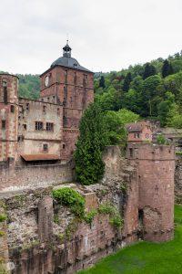 Heidelberger Schloss – A Moat, A Clock and A Tramp