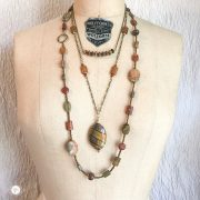 THREE LITTLE KITTENS | Picasso Jasper Trio of Necklaces