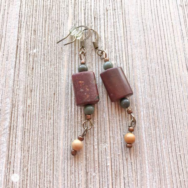 THREE LITTLE KITTENS | Picasso Jasper Pierced Earrings 3736e
