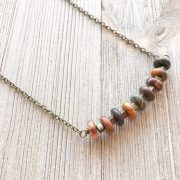 THREE LITTLE KITTENS | Picasso Jasper Bar Necklace 3737