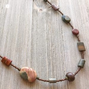 THREE LITTLE KITTENS | Picasso Jasper Long Necklace 3735n
