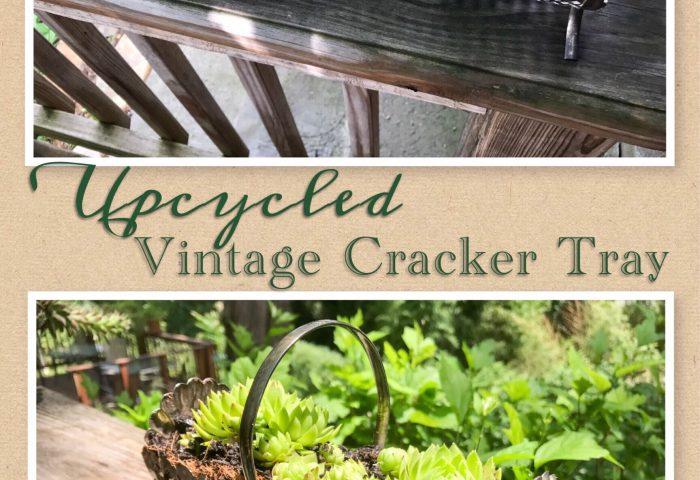 Upcycled Vintage Cracker Tray
