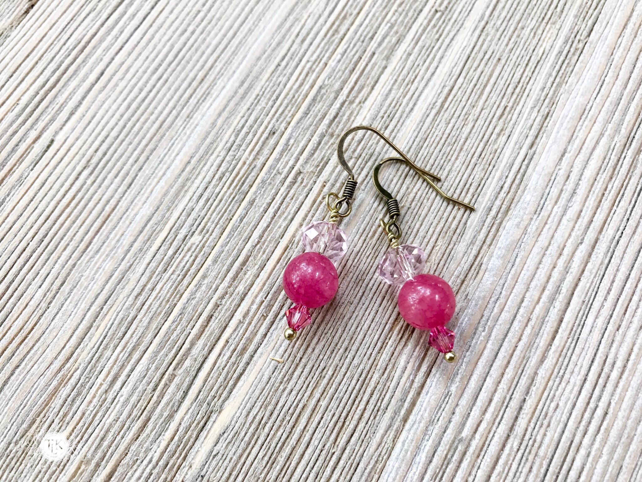 THREE LITTLE KITTENS   3727 Pretty in Pink Pierced Earrings