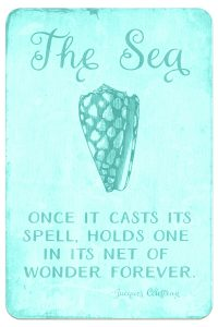 Digital Goodie Day – Sea Glass Seashells – The Sea Quote