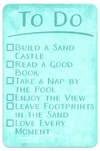 Digital Goodie Day – Sea Glass Seashells – To Do List